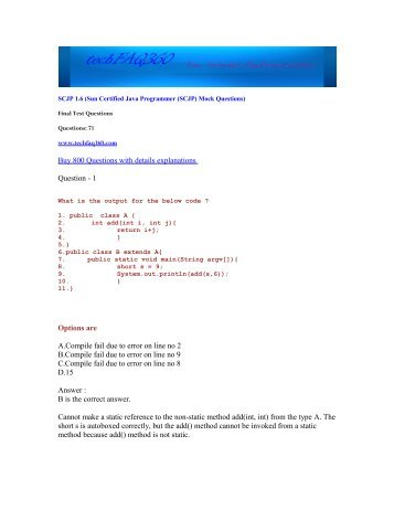 Sun Certified Programmer For Java 6 Study Guide Pdf