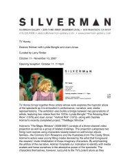 text on the TV Honey exhibition at Silverman ... - Desirée Holman