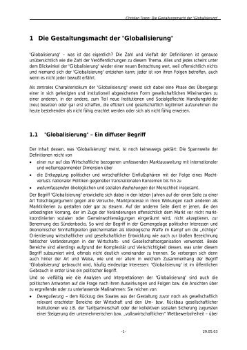 """1 Die Gestaltungsmacht der """"Globalisierung"""" - Trapp und Partner"""