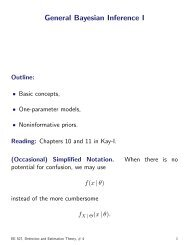 Bayesian Inference using Prof ALD's notes