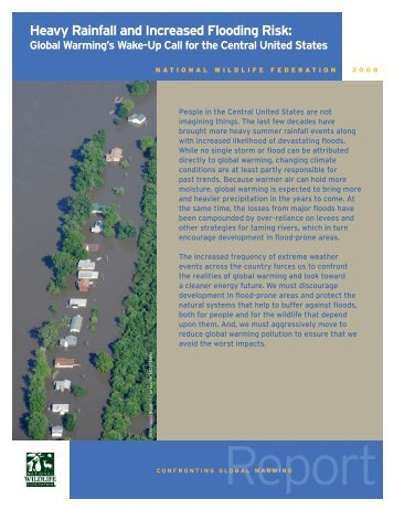 Heavy rainfall and increased flooding risk: - Climate Science Program