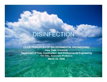 DISINFECTION - Iowa State University