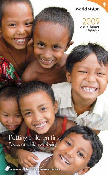 2009 Annual Report - World Vision Canada