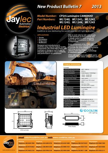 Industrial LED Luminaire - Cooldrive Distribution