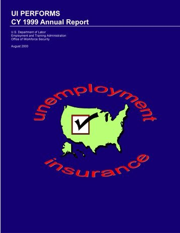 CY 1999 Annual Report - Unemployment Insurance