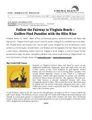 Follow the Fairway to Virginia Beach – Golfers Find Paradise with ...