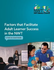 Factors that Facilitate Adult Learner Success in the NWT