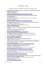 A G E N D A   2 0 1 2 - International Journal of Conservation Science