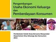 Materi Usaha Ekonomi Keluarga dan Pemberdayaan Konsumen