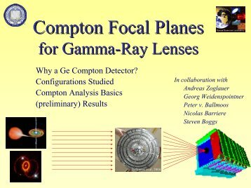 Gamma-Ray Lenses – Taking a Deeper Look at Sites of ... - Cesr