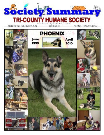 JUNE NEWSLETTER - NEW FORMAT - Tri-County Humane Society