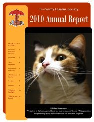 Annual Report 2010 final - Tri-County Humane Society