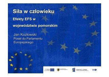Siła w człowieku - Strona Departamentu Europejskiego Funduszu ...