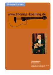 Pressestimmen - Thomas Kölling