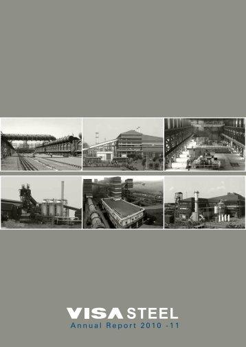 VISA Steel Limited Annual Report 2010-11