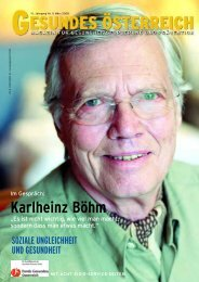 Karlheinz Böhm - Fonds Gesundes Österreich