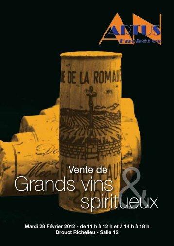 Grands vins spiritueux - Interencheres