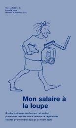 Mon salaire à la loupe - Eidgenössisches Büro für die Gleichstellung ...