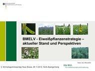 BMELV-Eiweisspflanzenstrategie - Vom Acker in den Futtertrog