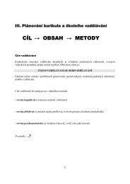 CÍL → OBSAH → METODY - eAMOS