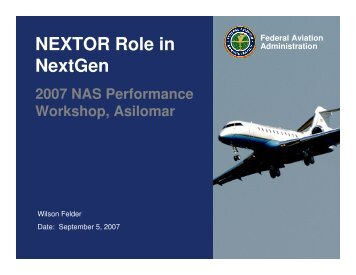 NEXTOR Role in NextGen