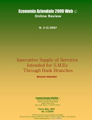 Innovative Supply of Services - Economia Aziendale Online