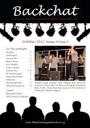 October 2012 Volume 35 Issue 5 - Nelson Repertory Theatre