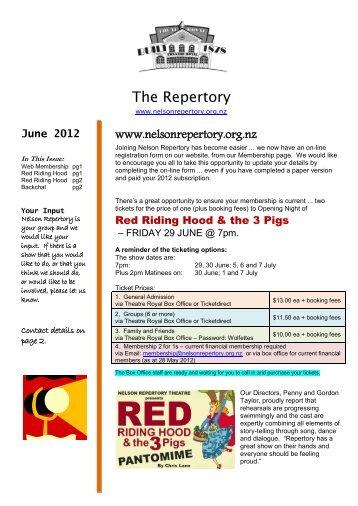 June 2012 - Nelson Repertory Theatre