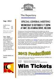 September 2012 - Nelson Repertory Theatre
