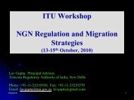 Regulatory Implications of NGN - ITU-APT Foundation of India
