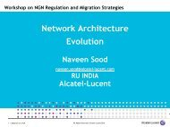 NGN Strategies for Fixed and Mobile Operators - ITU-APT ...