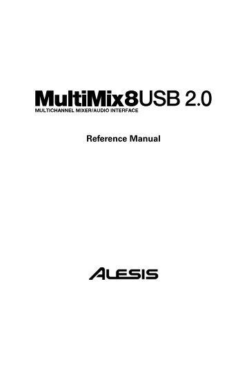 MultiMix 8 USB 2.0 - Reference Manual - Alesis