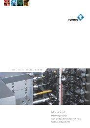 Brochure DECO 20a - Tornos