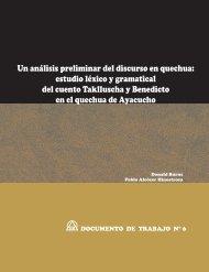 Un análisis preliminar del discurso en quechua: estudio ... - Sil.org