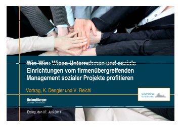 Wieso Unternehmen und soziale Einrichtungen vom - IUNworld ...