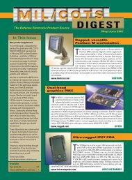 Military Embedded Systems MIL/COTS DIGEST - May/June 2007