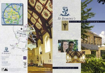 St Doms 2011 ReWork.indd - St Dominics | Sixth Form College