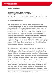Rede Martin Sturzenegger, Leiter Vertrieb & Marketing RhB