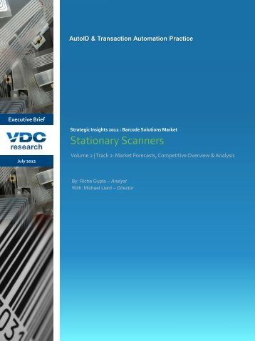 Stationary Scanners - VDC Research