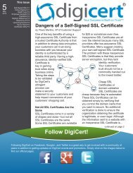 The Dangers of Using a Self-Signed SSL Certificate - Digicert
