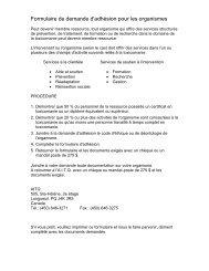Formulaire de demande d'adhésion pour les organismes