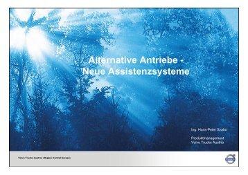 Alternative Antriebe - Neue Assistenzsysteme - Fahrschulen