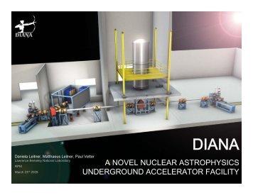 a novel nuclear astrophysics underground accelerator facility
