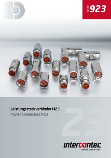 Leistungssteckverbinder M23 Power Connectors M23