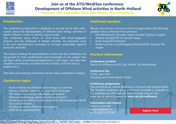 Join us at the ATO/We@Sea conference; Development of Offshore ...