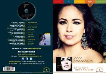 7:+JEIIB=^^X]W{.6 joana amendoeira - Le Chant Du Monde