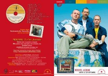 MOUSSU T e lei Jovents - Le Chant Du Monde