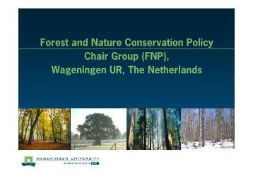 FNP profile - Wageningen UR
