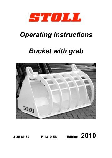 Array - operating manual for versalift bucket  rh   ncblag2wo ml