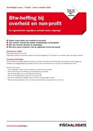 Btw-heffing bij overheid en non-profit - Fiscaal up to Date
